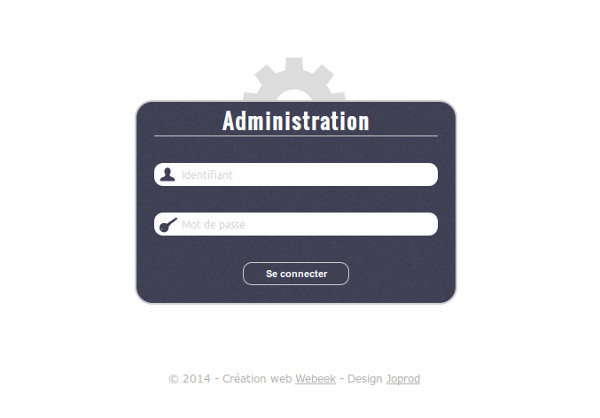 création interface administration